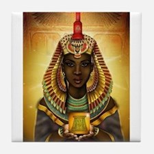 Egyptian Goddess Isis Tile Coaster