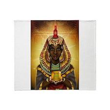 Egyptian Goddess Isis Throw Blanket