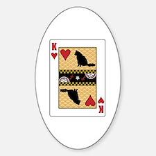 King Angora Oval Decal