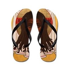 The Lion of Judah Flip Flops