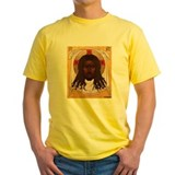 Black jesus Mens Yellow T-shirts