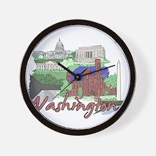Cute Washington dc Wall Clock