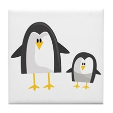 Two Penguins Tile Coaster