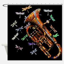 Cute Baritone horn Shower Curtain