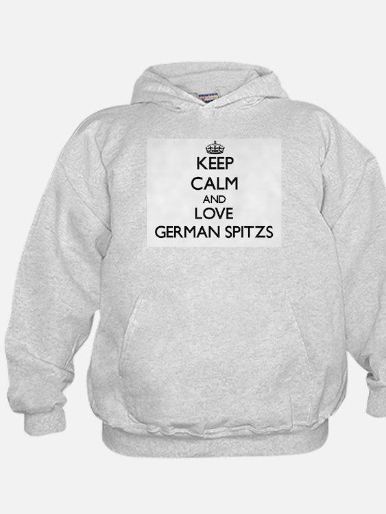Keep calm and love German Spitzs Hoodie