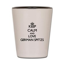 Keep calm and love German Spitzs Shot Glass