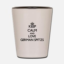 Keep calm and love German Spitzs Shot Glass