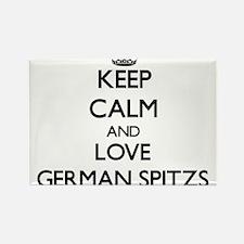 Keep calm and love German Spitzs Magnets