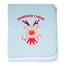 Reindeer Cheer baby blanket
