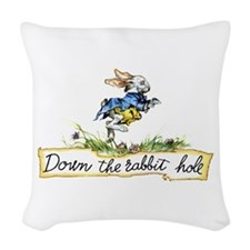 Down the Rabbit Hole Woven Throw Pillow