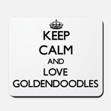 Keep calm and love Goldendoodles Mousepad