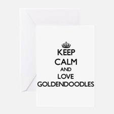 Keep calm and love Goldendoodles Greeting Cards