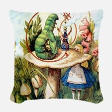 ALICE_8_SQ.png Woven Throw Pillow