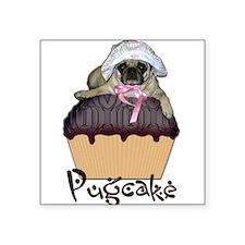 "Cute Funny pet pug Square Sticker 3"" x 3"""