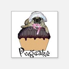 "Cute Dog humor city life Square Sticker 3"" x 3"""
