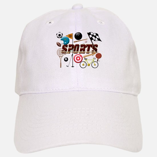 Sports Collage Baseball Baseball Baseball Cap