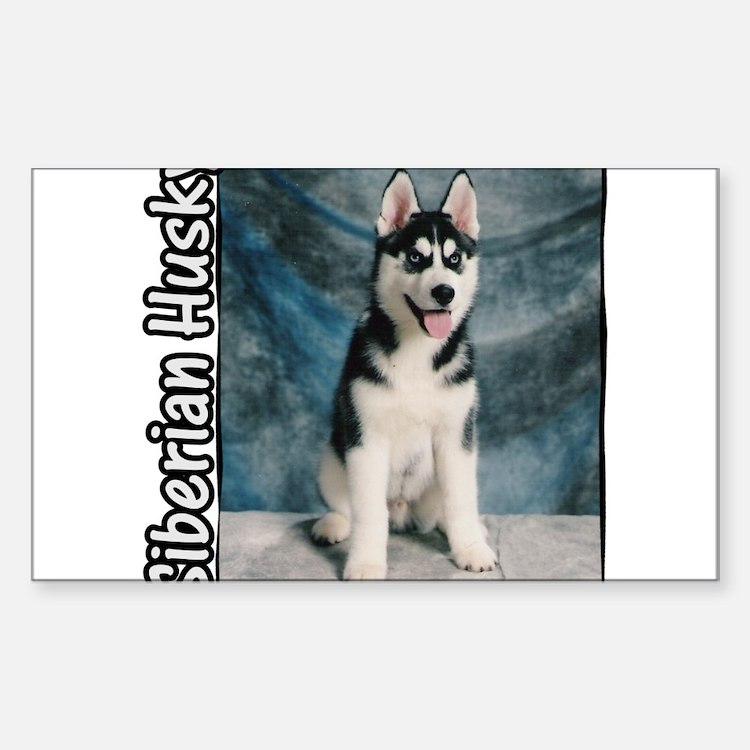 Siberian Husky Puppy Rectangle Decal