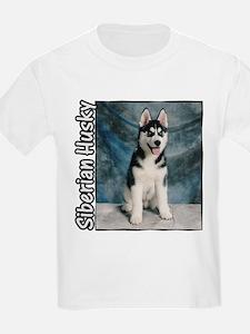 Siberian Husky Puppy Kids T-Shirt
