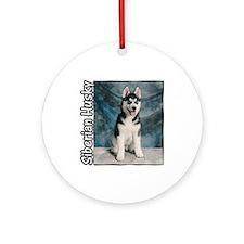 Siberian Husky Puppy Ornament (Round)