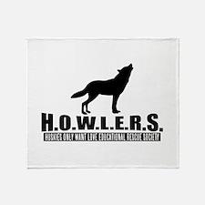 H.o.w.l.e.r.s. Logo Throw Blanket
