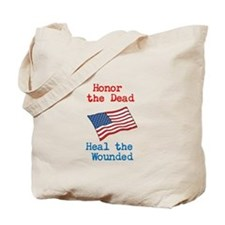 Honor the dead Tote Bag