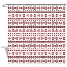 Christmas Sweater Cross Stitch Shower Curtain