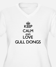 Keep calm and love Gull Dongs Plus Size T-Shirt