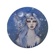"Sapphire Fairy Fantasy Art 3.5"" Button (100 pack)"