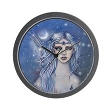 Sapphire Fairy Fantasy Art Wall Clock