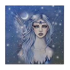 Sapphire Fairy Fantasy Art Tile Coaster
