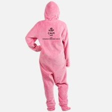 Keep calm and love Hungarian Wireha Footed Pajamas