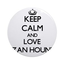 Keep calm and love Ibizan Hounds Ornament (Round)