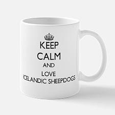 Keep calm and love Icelandic Sheepdogs Mugs