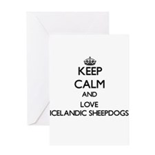 Keep calm and love Icelandic Sheepd Greeting Cards