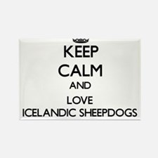 Keep calm and love Icelandic Sheepdogs Magnets