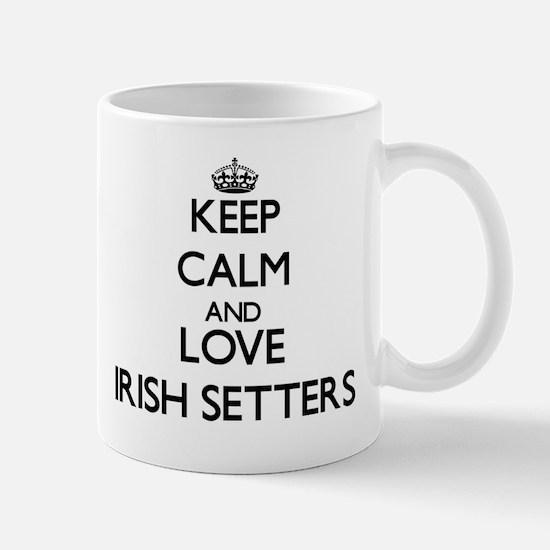 Keep calm and love Irish Setters Mugs