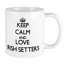 Keep calm and love Irish Setters Mugs