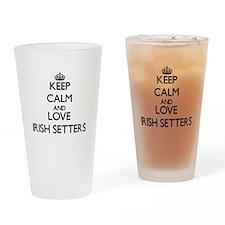 Keep calm and love Irish Setters Drinking Glass