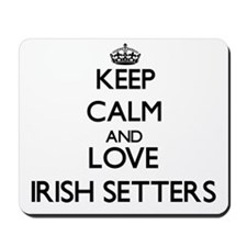 Keep calm and love Irish Setters Mousepad