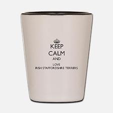 Keep calm and love Irish Staffordshire Shot Glass