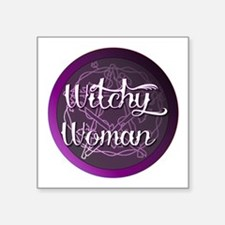 Witchy woman with pentacle Sticker