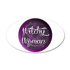 Witchy woman with pentacle Wall Decal