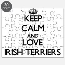 Keep calm and love Irish Terriers Puzzle