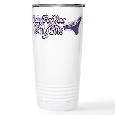 Cute Ovarian cancer Travel Mug
