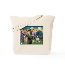 St. Francis & Brittany Spaniel Tote Bag