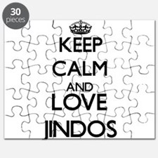 Keep calm and love Jindos Puzzle