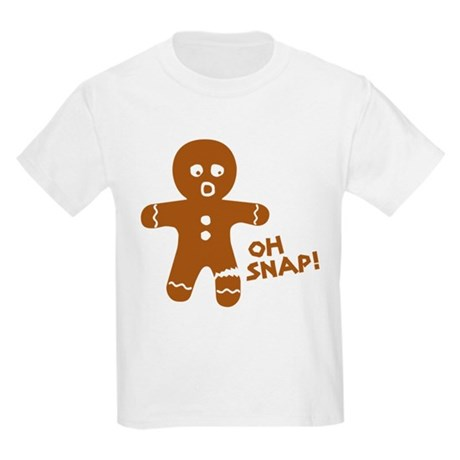 $10 Oh Snap Gingerbread Man Kids Tee by CafePress-Custom T-Shirts, Unique Gifts, Posters