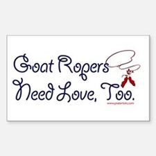 Goat ropers Rectangle Decal