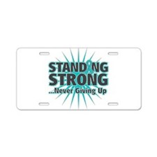Ovarian Cancer Strong Aluminum License Plate