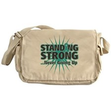 Ovarian Cancer Strong Messenger Bag